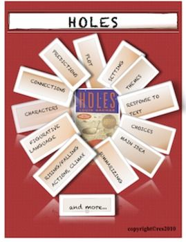 HOLES Literature Guide Novel Study   Louis sachar, Worksheets and ...
