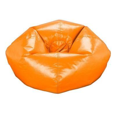 Acessentials Orange Vinyl Bean Bag 9812401 The Home Depot Bean Bag Chair Bean Bag Chair Kids Cool Bean Bags