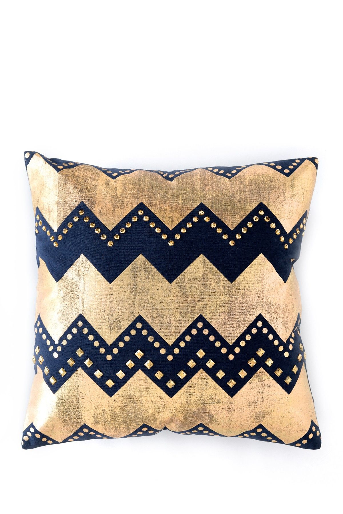 Gold + navy zigzag // love the pattern