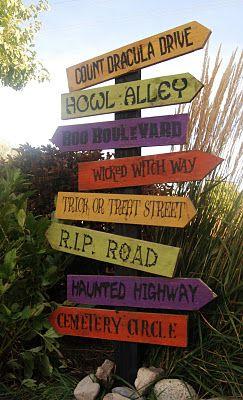 Diy Halloween Street Sign Halloween Signs Halloween Yard
