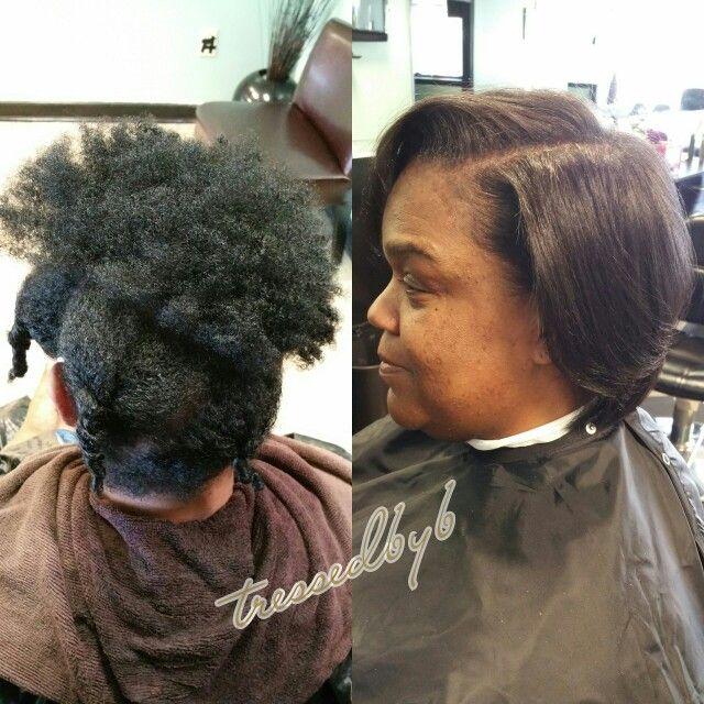 Silk Press And Trim On Very Fine 4a Ish Hair Thin Natural Hair Silk Press Hairstyles For Thin Hair