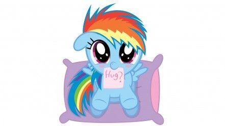 My Little Pony Friendship Is Magic Hugging Wallpaper Mein
