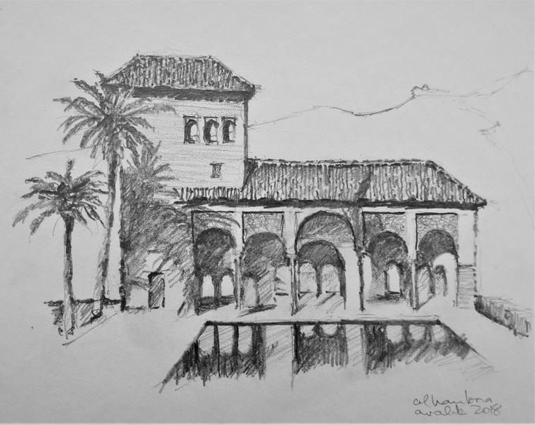 Alhambra 3 Drawing Architecture Drawing Drawings Art
