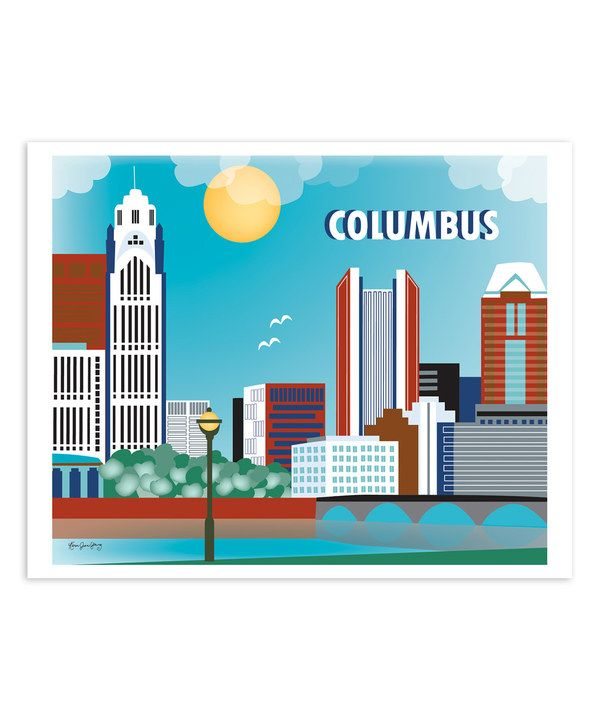 Look at this Columbus Ohio Skyline Print on #zulily today!