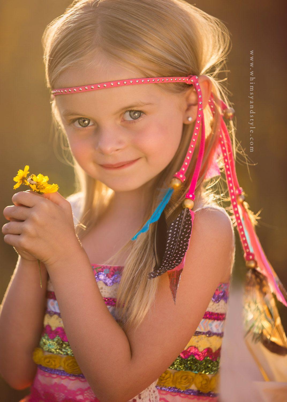 Girls Bohemian Hot Pink Feather Headband with Glittered Tails, Girls Boho Headband, Toddler Girls Boho Chic Headband, Dipped Feathers by TheHeadbandAtelier on Etsy