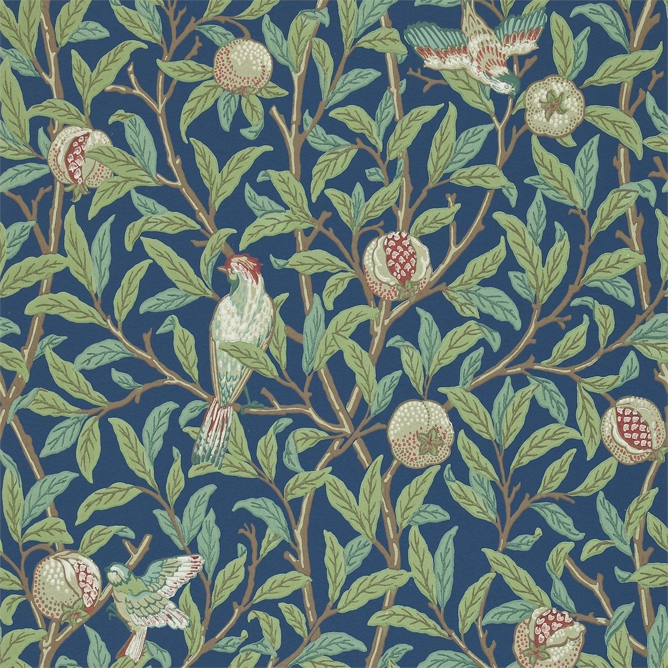 Bird Pomegranate 212540 William Morris Wallpaper Morris Wallpapers William Morris Art