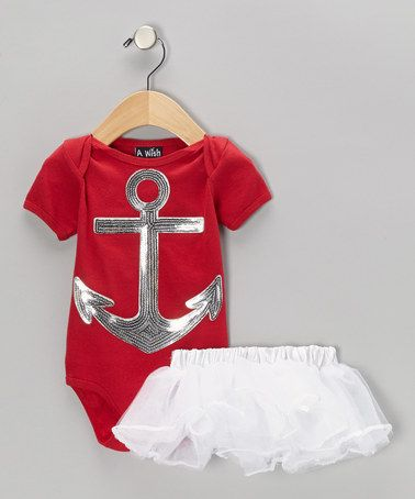Take a look at this Red Anchor Bodysuit & White Dancer Tutu - Infant by A Wish on #zulily today!