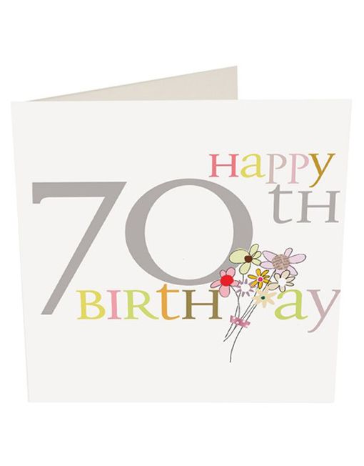 Buy Happy 70th Birthday Cards By Caroline Gardner Today Perfect For Friends Family On Their Design Led Age Fast Dispatch
