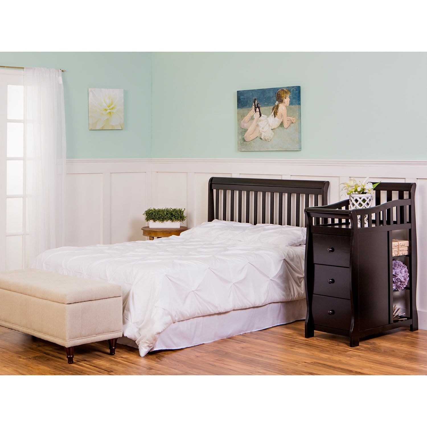 Dream On Me Brody 5in1 Convertible Crib with Changer