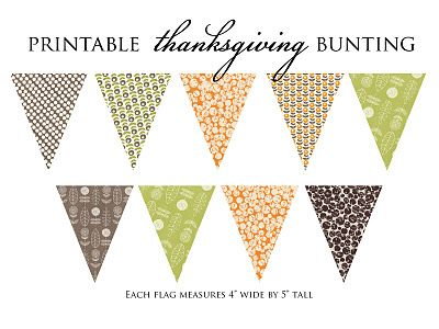 Free Printable Thanksgiving Bunting Modern Colors And Pattern Enjoy