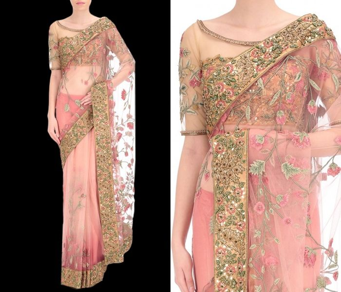 759e51f15df9cc The Ultimate Latest Blouse Designs To Try With Net Sarees!