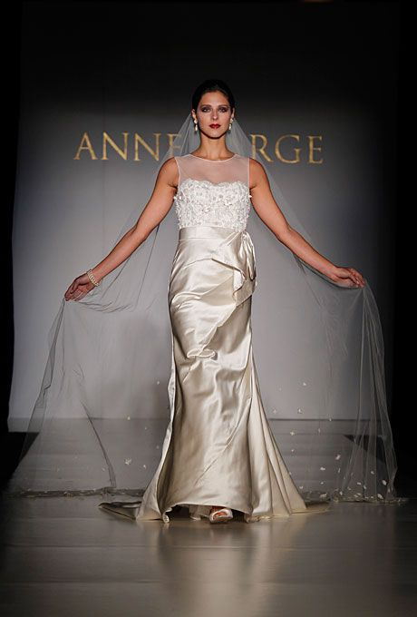 Brides.com: Non-Strapless Wedding Dresses. Gown by Anne Barge