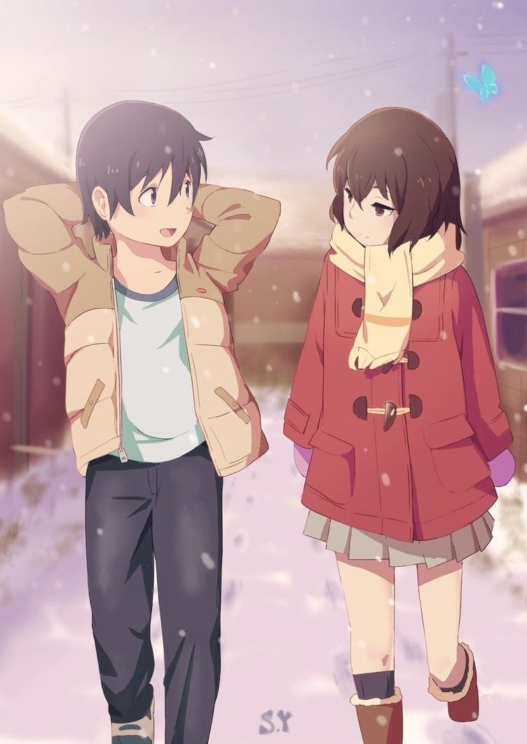 Erased Art By Miniyippo In 2020 Anime Friend Anime Anime Wallpaper