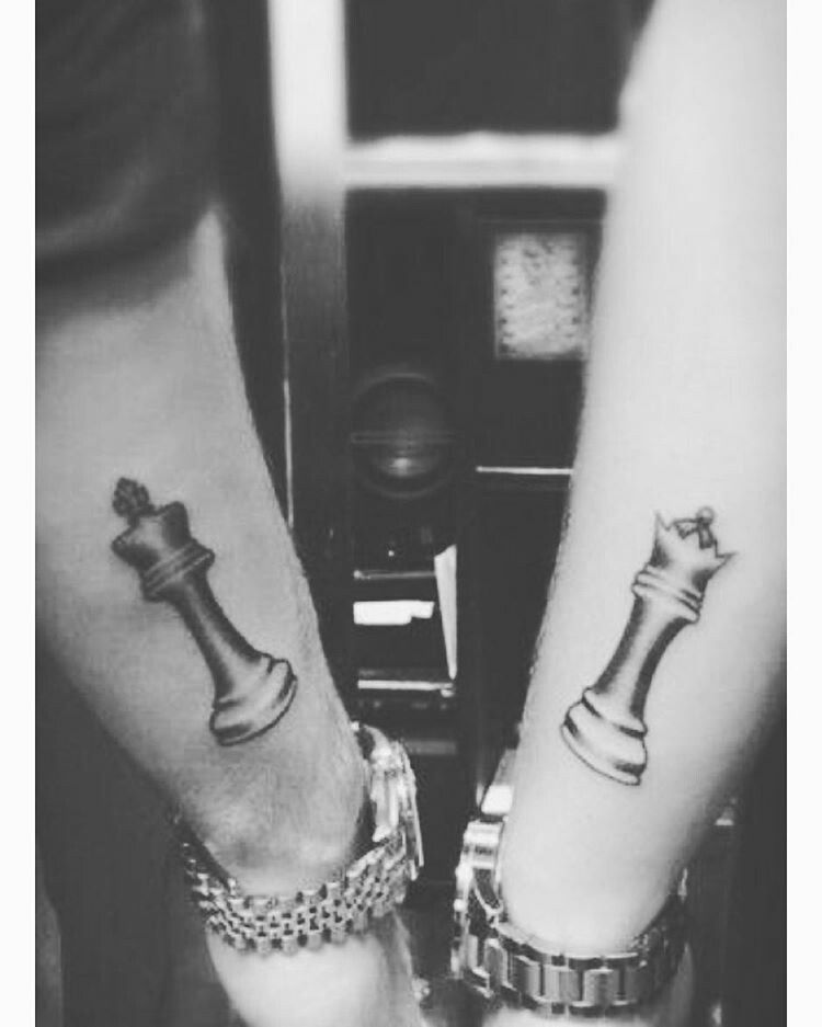 Queen Chess Piece Tattoo On Wrist King and queen, chess ...