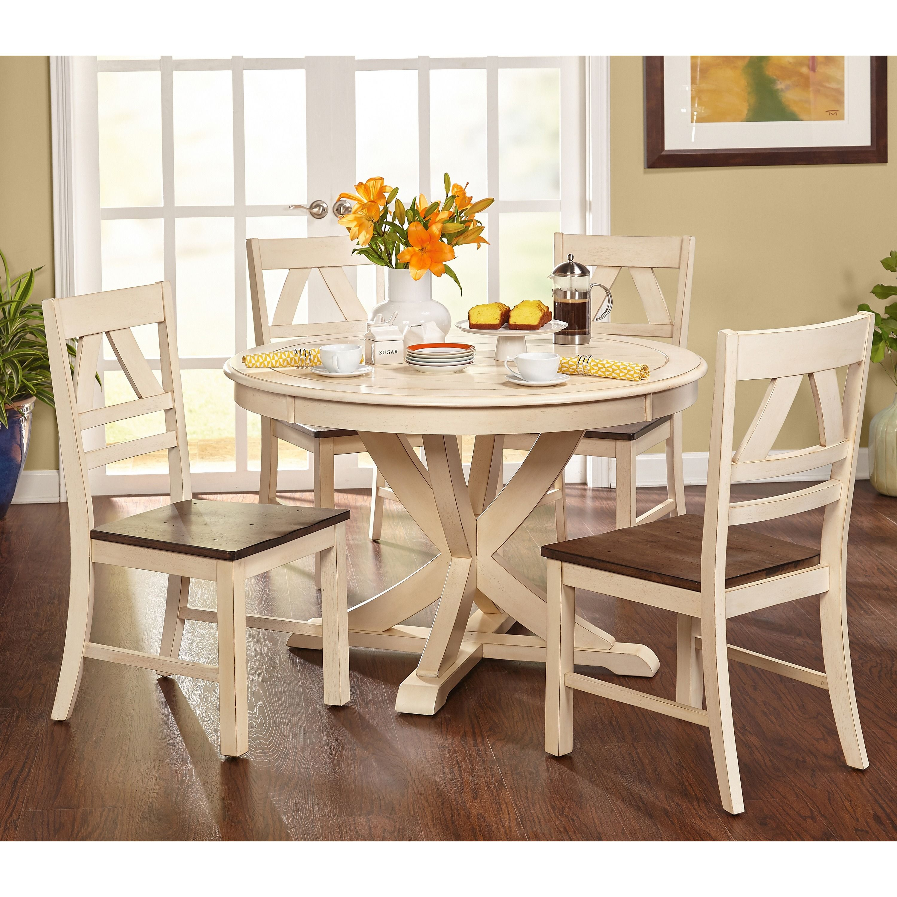 Simple Living Vintner Country Style Dining Set Grey 3