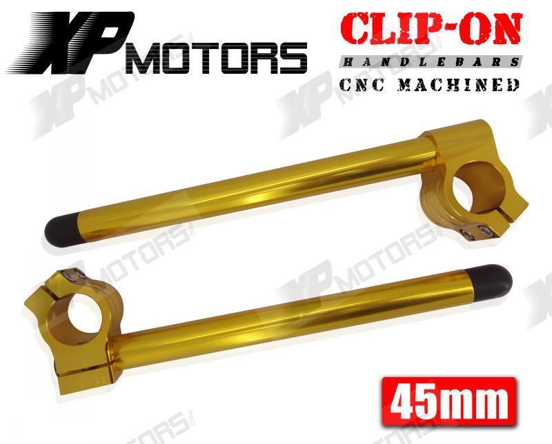 """53mm Forks Raised 1/"""" Riser Clipons Clip-On HandlebarsUniversal Motorcycle"""