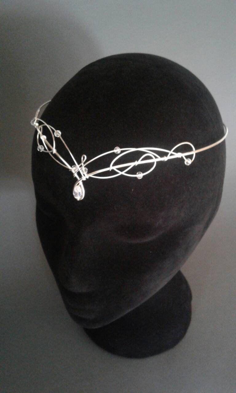 Elven Wedding Circlet Tiara Medieval Crown Renaissance Headpiece Celtic Bride Diadem