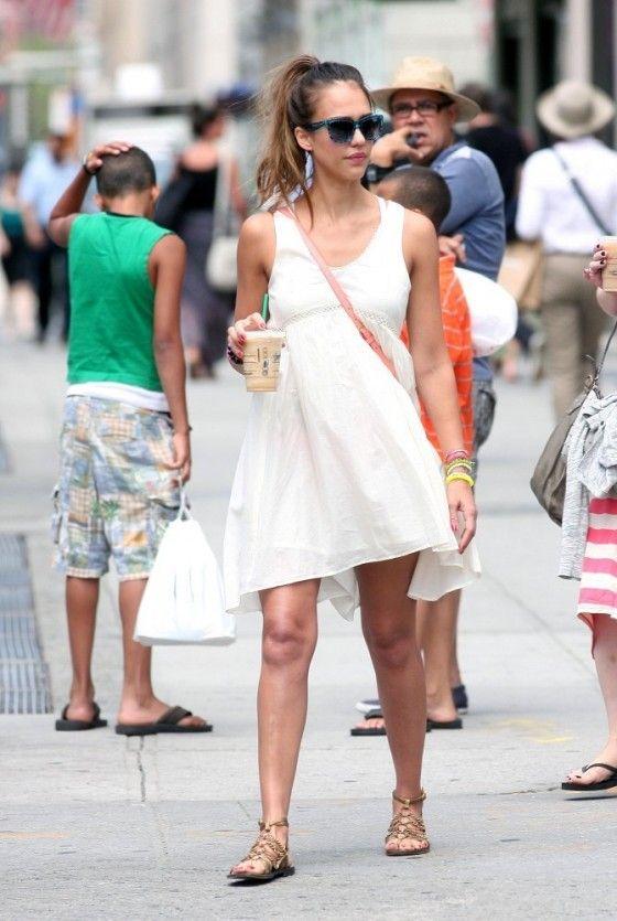 Jessica Alba Summer Dress In Ny
