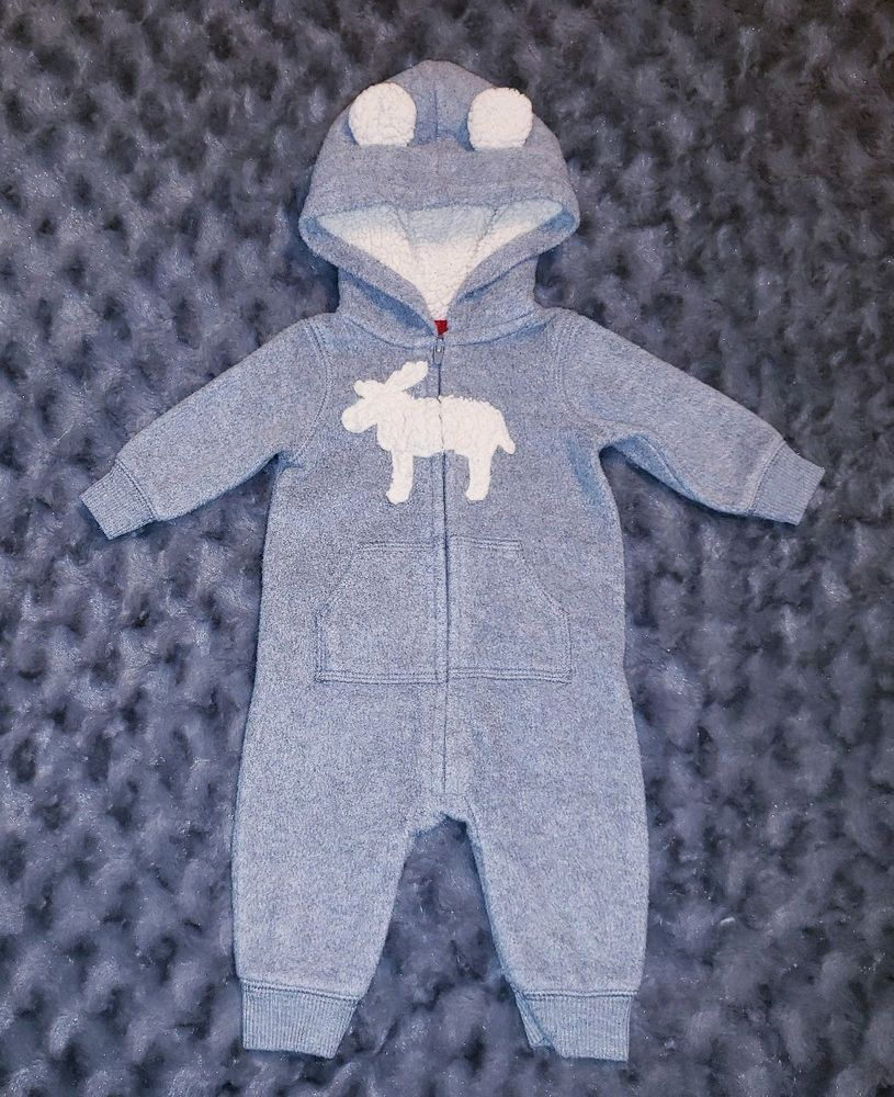 f04dca2d0832 GUC Carters Baby Boy Clothes 3 Months 1 Piece Long Sleeve Hooded Fleece  Romper #fashion #clothing #shoes #accessories #babytoddlerclothing ...
