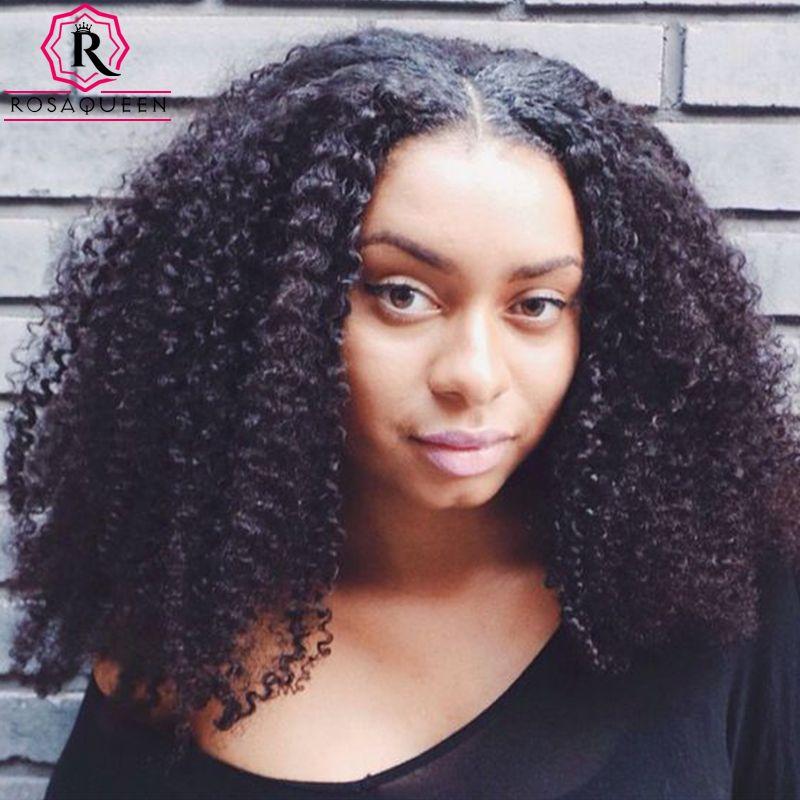 클립 인간의 머리 확장 몽골어 곱슬 곱슬 클립 헤어 확장 아프리카 킨키 곱슬 머리 클립 인 블랙 여성