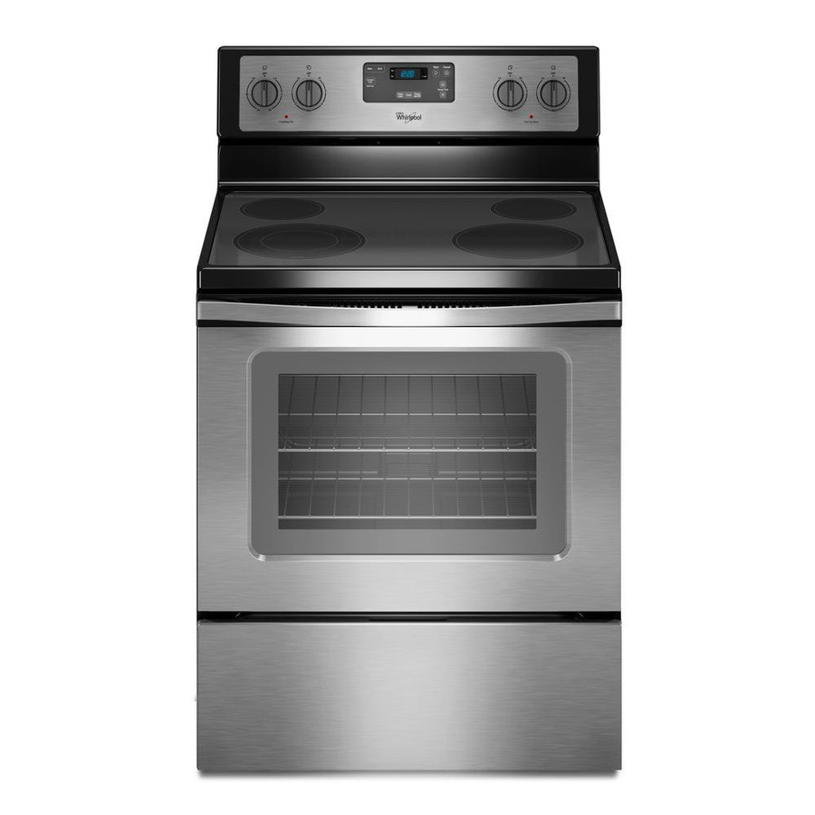 Whirlpool Smooth Surface 4 8 Cu Ft Freestanding Electric Range