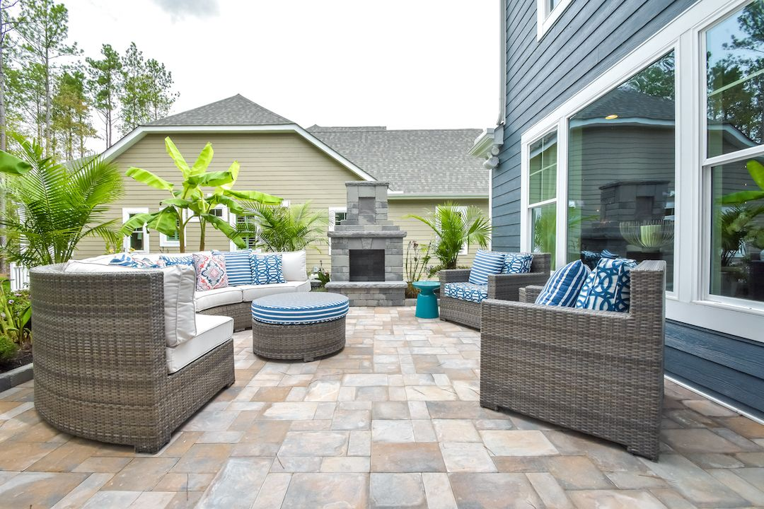 Courtyard living in our Brady model at Magnolia Green ... on Outdoor Living Space Builders Near Me id=90766