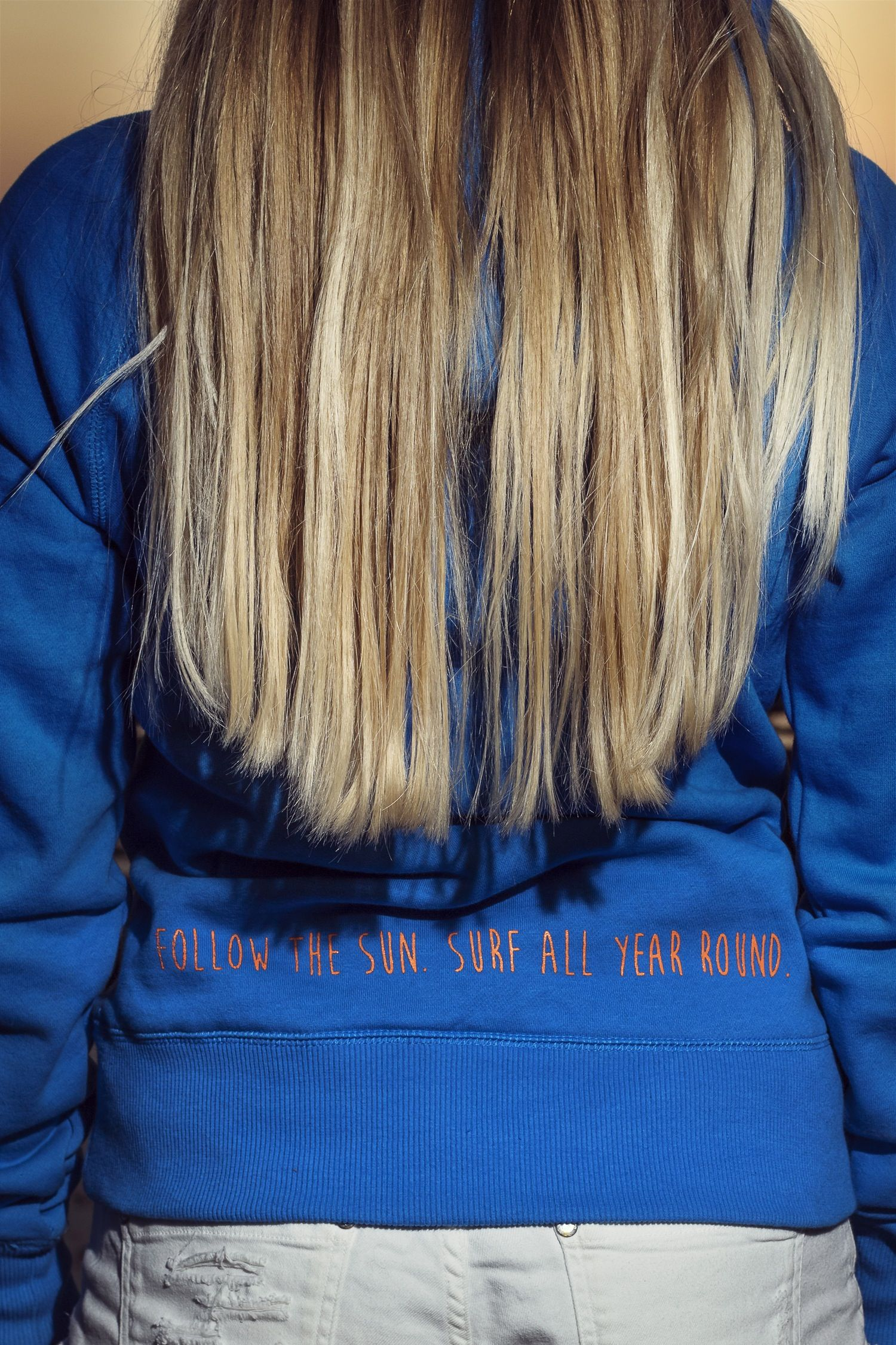 Image of Woman's Follow The Sun Hoody - Blue