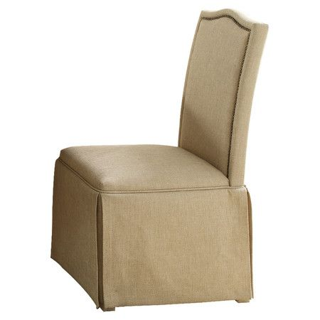 Skirted Parsons chair with nailhead trim Product