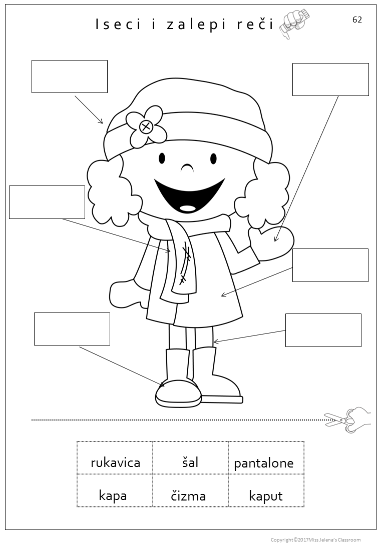worksheet Clothes Exercises Worksheet free sample serbian clothes worksheets latin alphabet language in odelo na srpskom jeziku