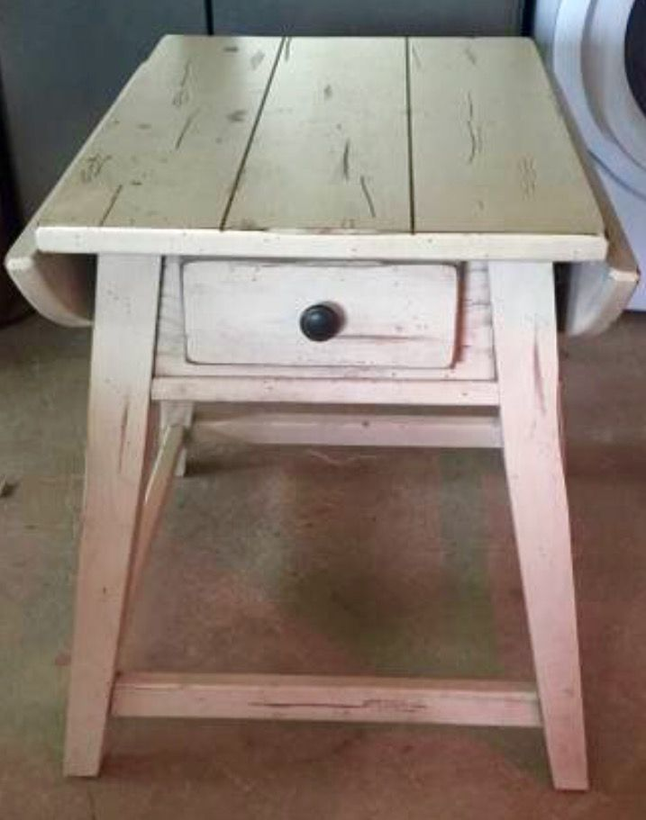 Best Broyhill Attic Heirlooms Splay Leg Table In White Stain ️ 640 x 480