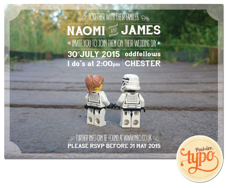 Printable And Customisable Star Wars Lego Wedding