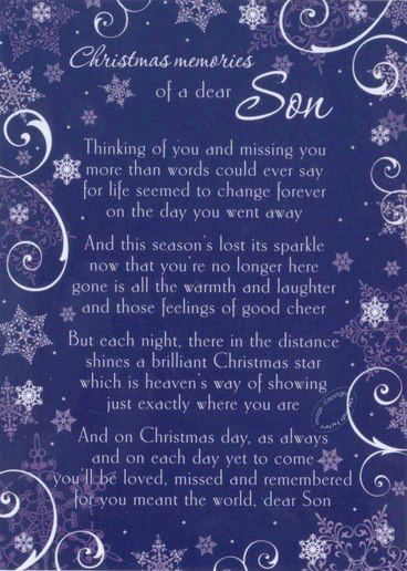 Missing Son At Christmas My First Christmas In Heaven Books