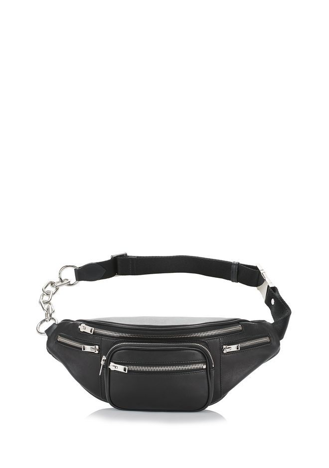 c6a38df4e05 ALEXANDER WANG Attica Fanny Pack In Washed Black With Rhodium.   alexanderwang  bags  leather  belt bags  nylon