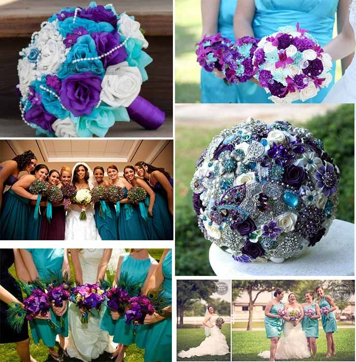 Funny Ideas Of Purple And Teal Color Themed Wedding Wedding