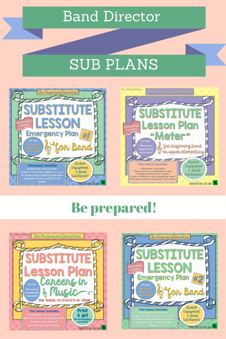 Substitute Lesson Plan Meter For Beginning Band Or Upper
