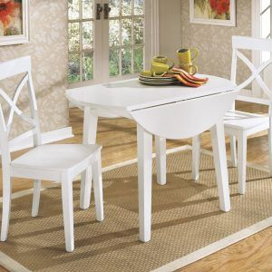 Cool Round Drop Leaf Kitchen Table Pertaining To Your Own Home