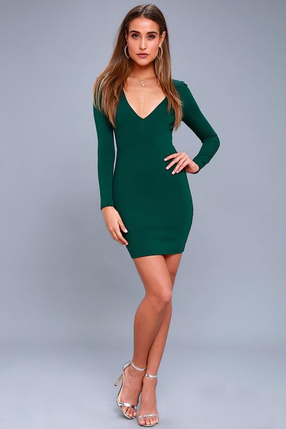green bodycon homecoming dress