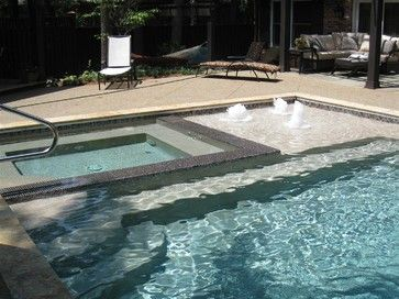 Outdoor Backyard Pool Area - contemporary - pool - indianapolis - STEVE GRAY RENOVATIONS INC