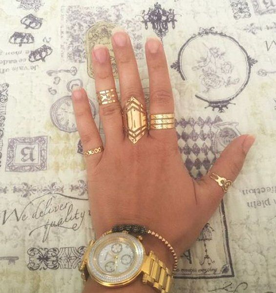 5 Gold Rings Gold Ring Set Boho Jewelry Midi by BohoYogaJewelry