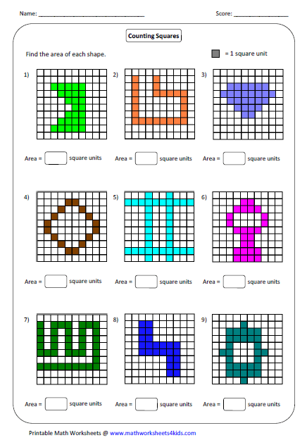 Find The Area Of Each Shapes Area Worksheets Geometry Worksheets Shapes Worksheets