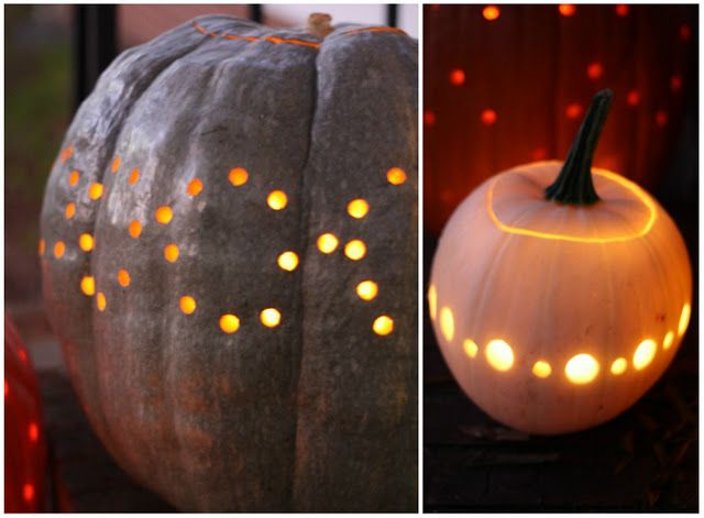 Carve drilled pumpkins #Halloween | DIY Inspiration ...