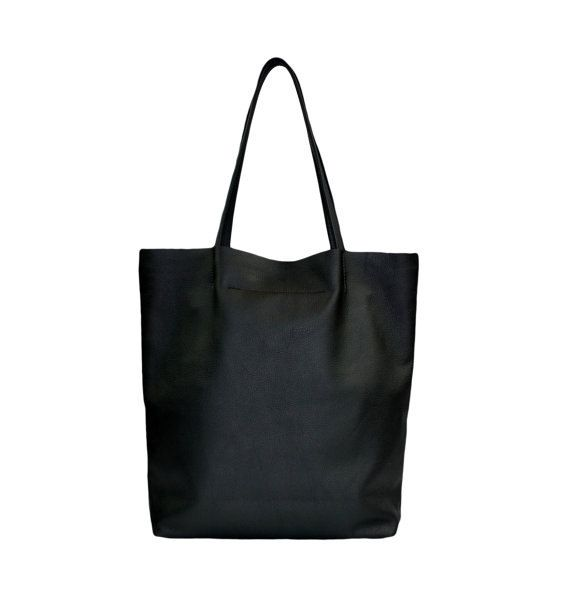 318235a63 Cuero simple bolsa estilo minimalista Color negro | confeccion de ...