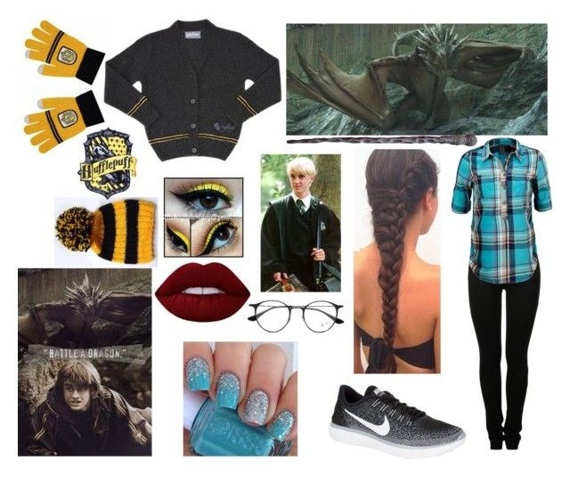 """""""Sitting next to Draco : First task - year 4"""" by moon-and-back-babe123 ❤ liked on Polyvore featuring MM6 Maison Margiela, Vero Moda, NIKE, Ray-Ban and Disney"""