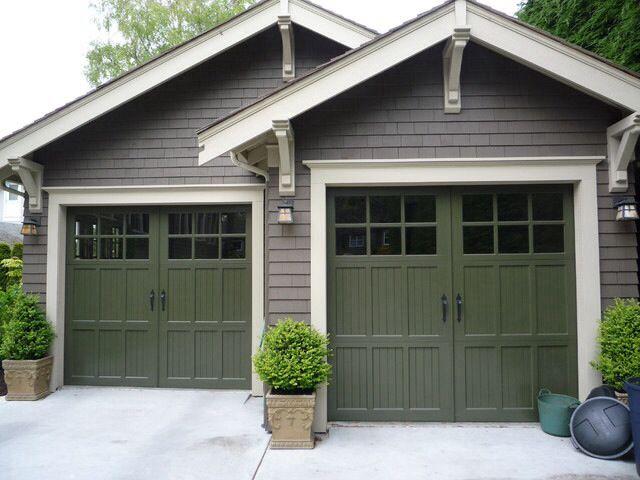 Pin By Herbert Oldehinkel On Everything Craftsman Craftsman Garage Door Garage Door Colors House Paint Exterior