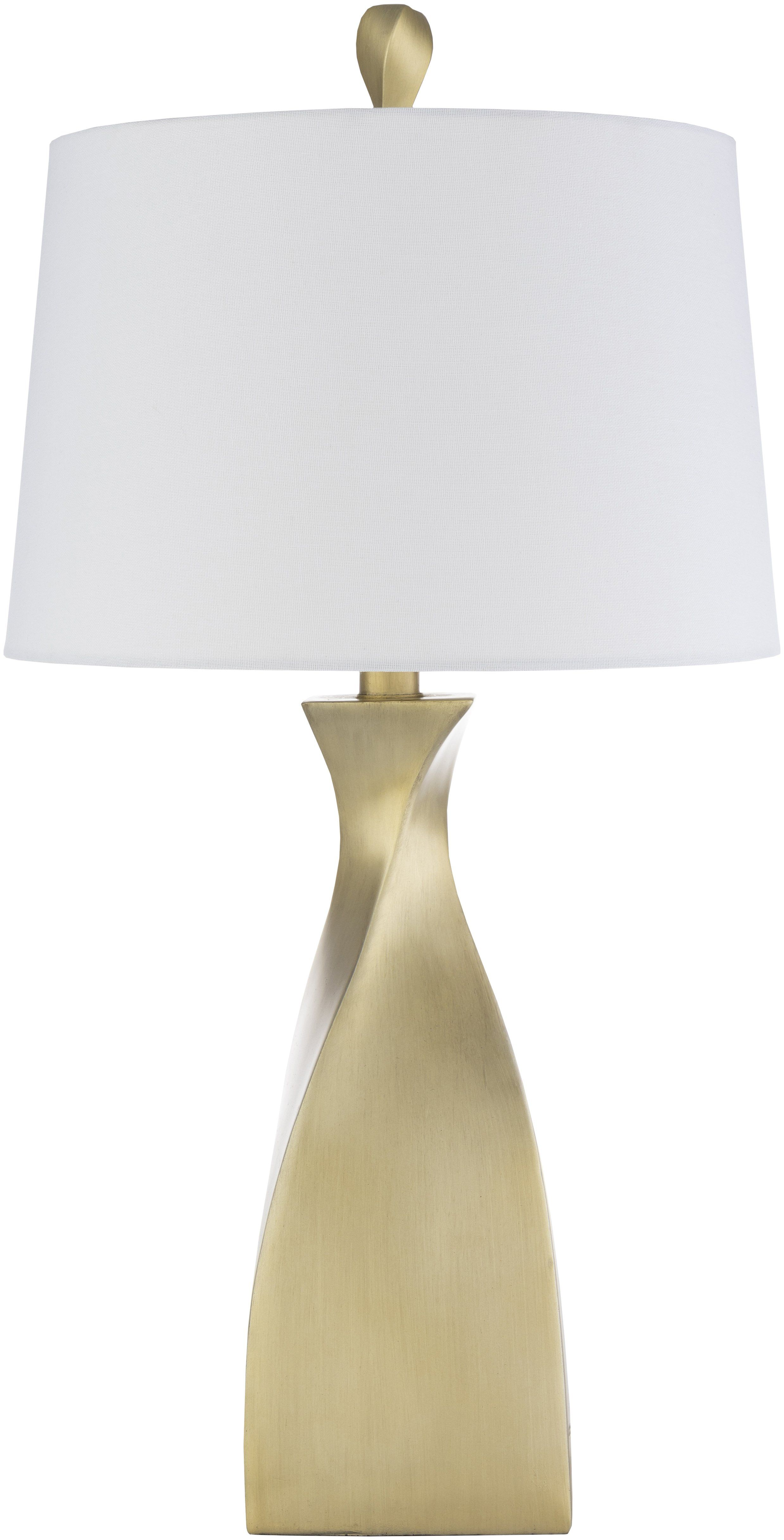 Stylecraft 22 In Solid Gold Table Lamp With Brussels Off White Hardback Fabric Shade L25866cds The Home Depot In 2021 Gold Table Lamp Gold Metal Table Lamp