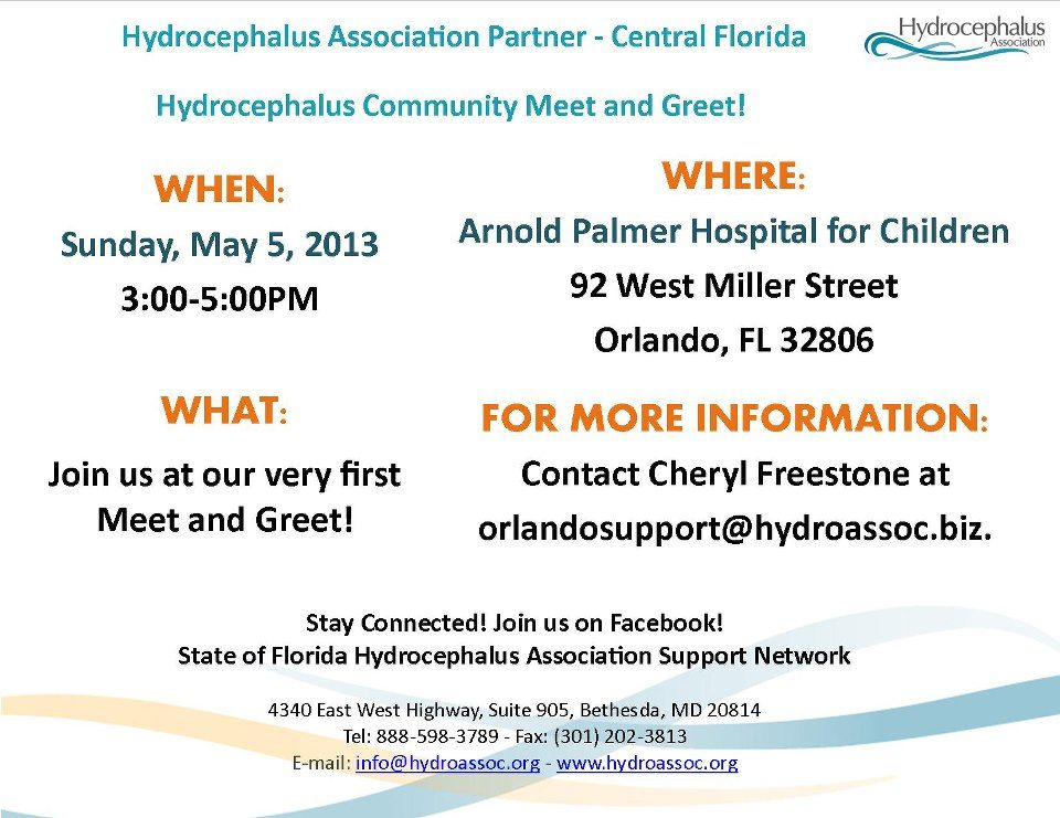Hydrocephalus association partner central florida meets