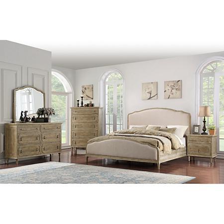 Interlude Curved Upholstered Bedroom Set Assorted Sizes Sam S