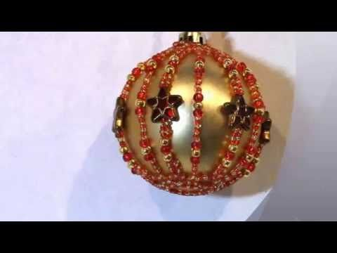 Diy Star Bead Bauble Youtube Beaded Ornament Covers Beaded