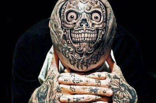 tatouage tete de mort mexicaine les top 90 plus. Black Bedroom Furniture Sets. Home Design Ideas