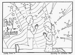 Pray For Our Leaders Coloring Page